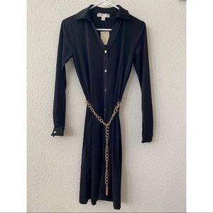 Michael Kors Black Long Sleeve Dress